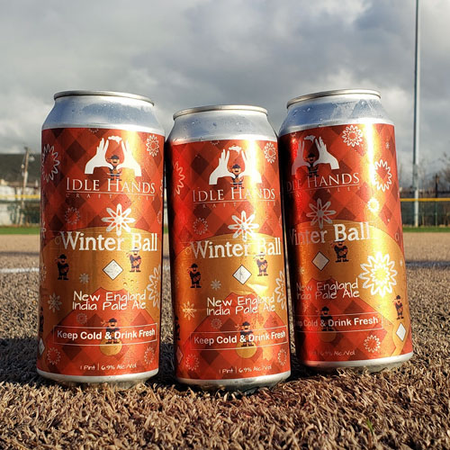 Winter Ball IPA Cans by Idle Hands Brewery
