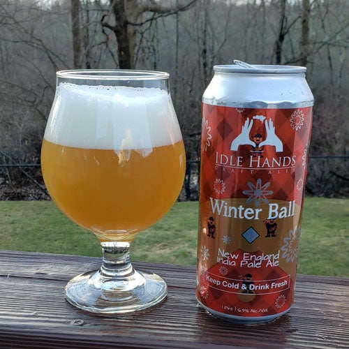 Winter Ball New England IPA in a Glass by Idle Hands Brewery