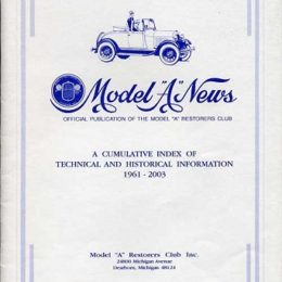"""Model """"A"""" Index"""