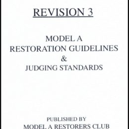 Revision 3 Model A Restoration Guidelines & Judging Standard