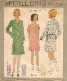 McCall 6213     Girls' Dress       Size 8