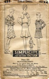 Simplicity  431     Girls' Dress     Size 12