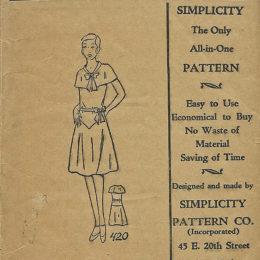 Simplicity Pattern 20, Girls Dress