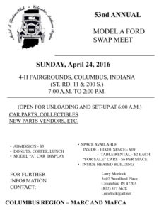 53rd Annual Model A Ford Swap Meet Columbus Indiana @ Bartholomew County 4H Fairgrounds | Columbus | Indiana | United States