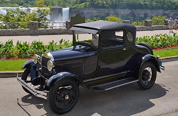 A 1929 Oval Window Business Coupe Was Seen In Niagara Falls