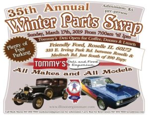 35th Annual Winter Parts Swap @ Friendly Ford | Roselle | Illinois | United States