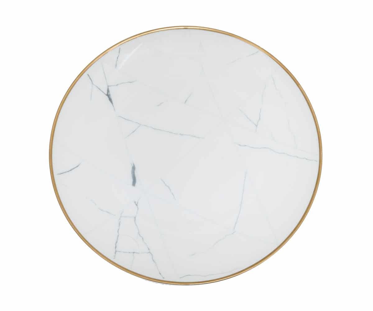 marble plates gold rimmed