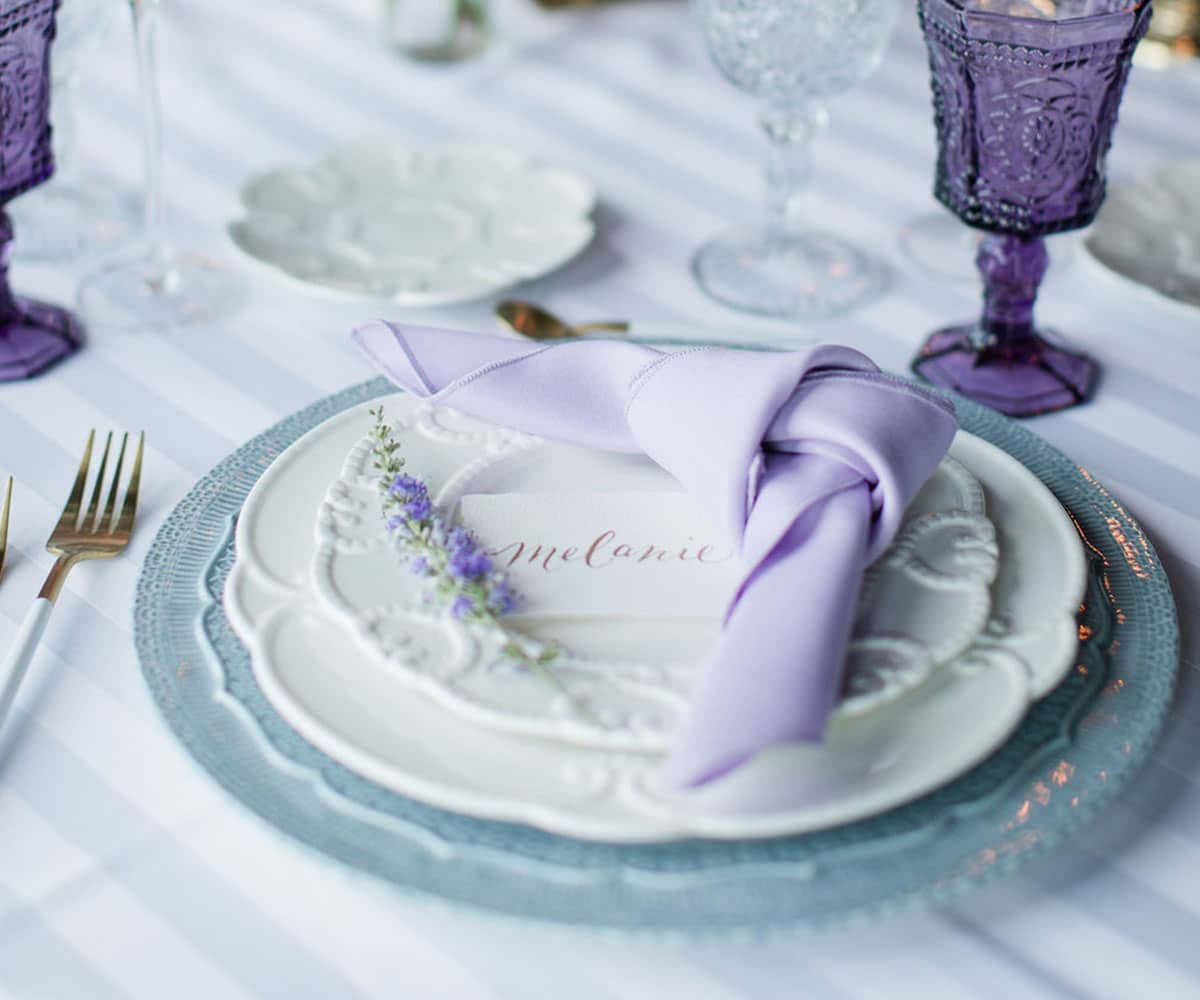 italian porcelain lace charger lovely luxe rentals