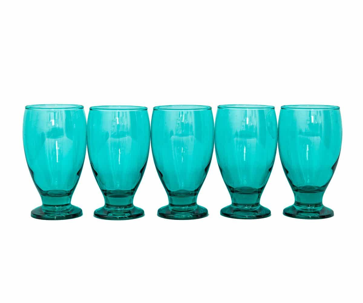 Assorted Blue and Aqua Glassware
