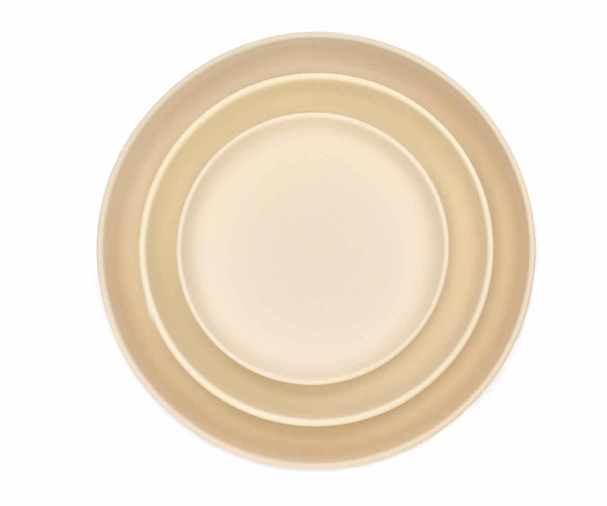 stoneware matte coupe plates cream hudson dinnerware