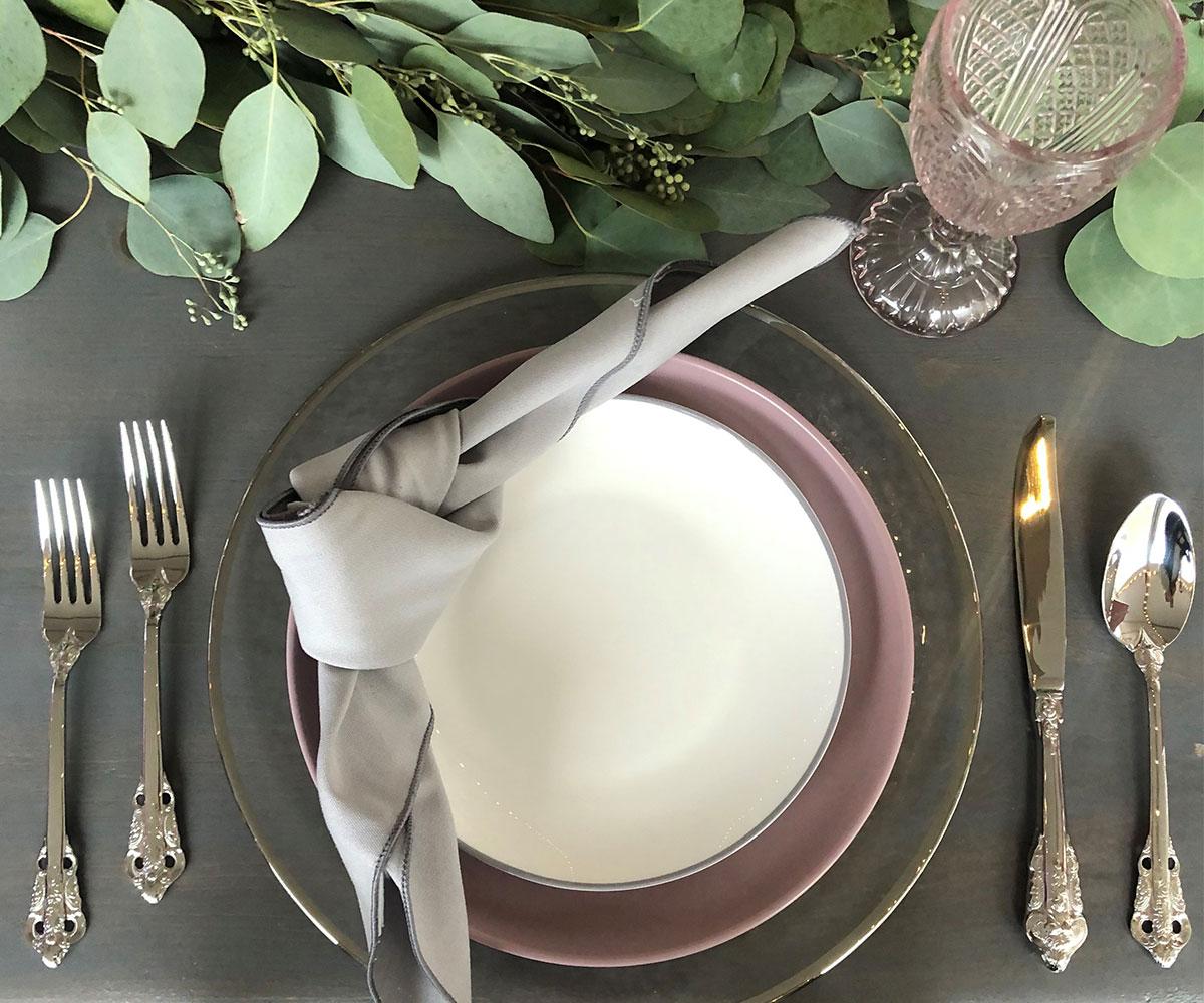 Silver Clinton Dinnerware