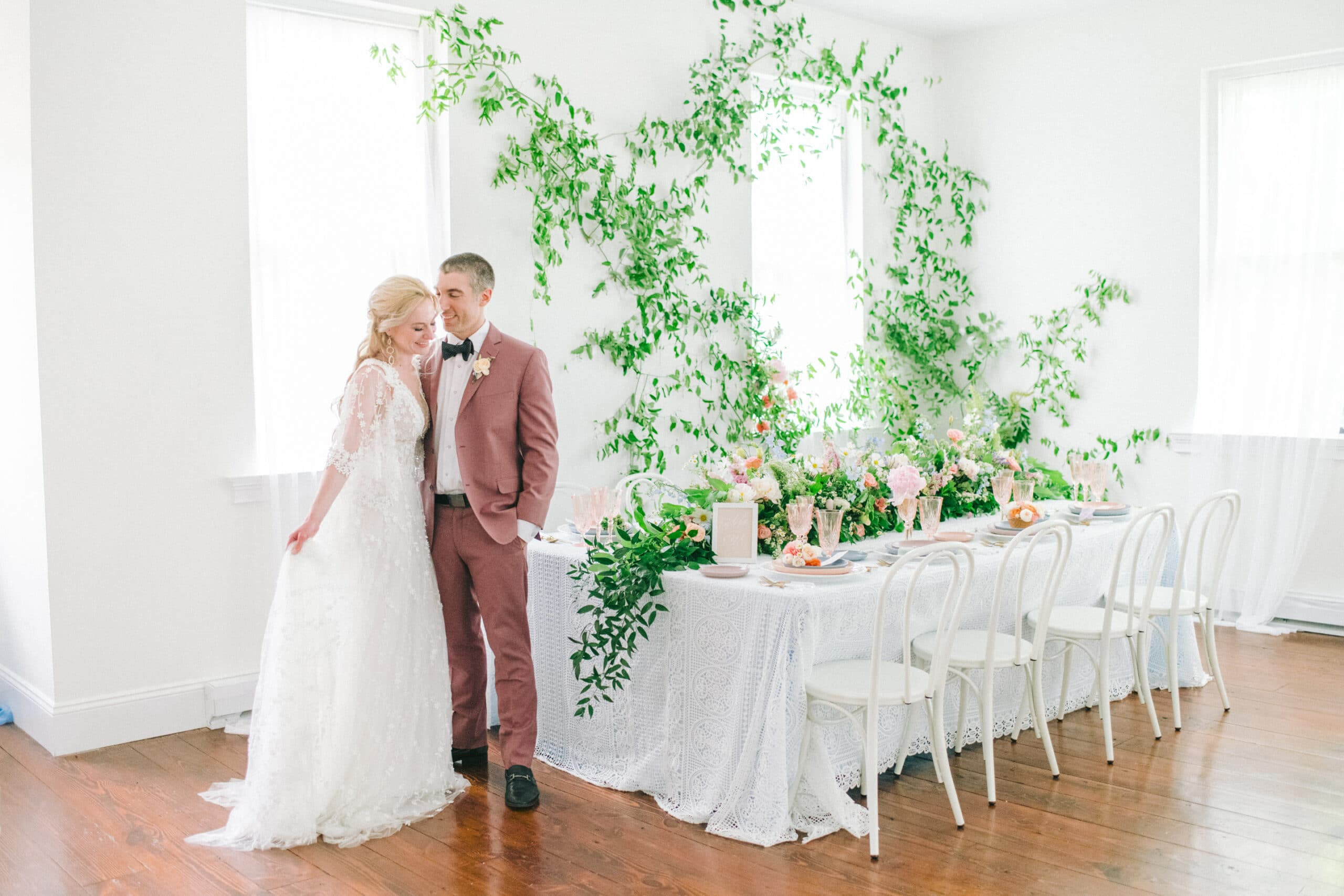 Couple at Wedding Table