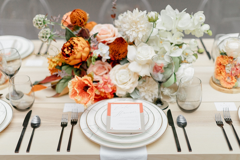 Wedding Tablescape at Art Museum