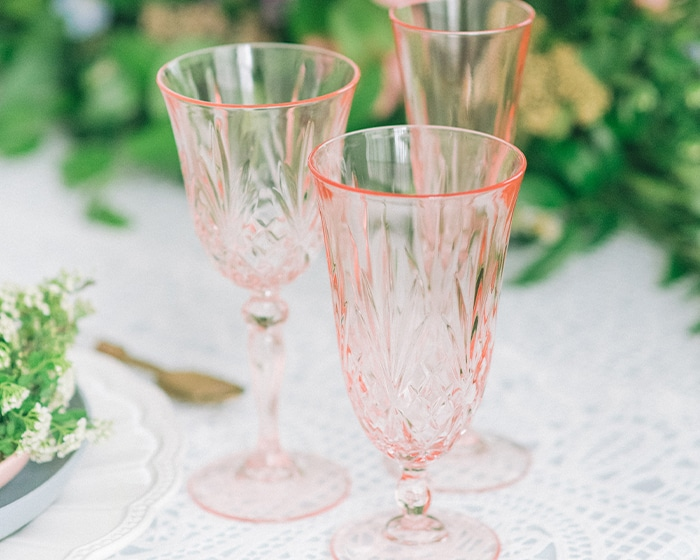 Blush Madison Glassware Lovely Luxe Rentals