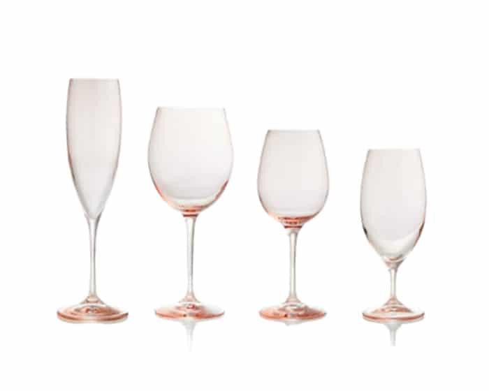 Blush Whitney Glassware