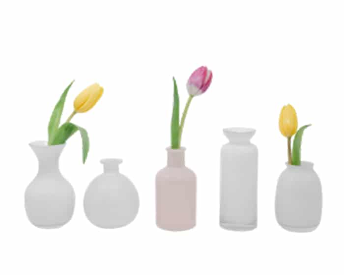 Assorted Bud Vases Lovely Luxe Rentals