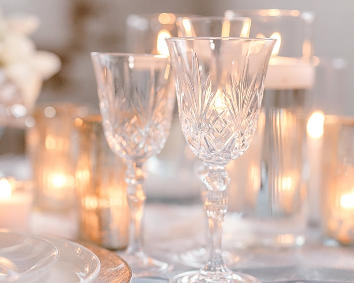 Clear Madison Glassware Lovely Luxe Rentals