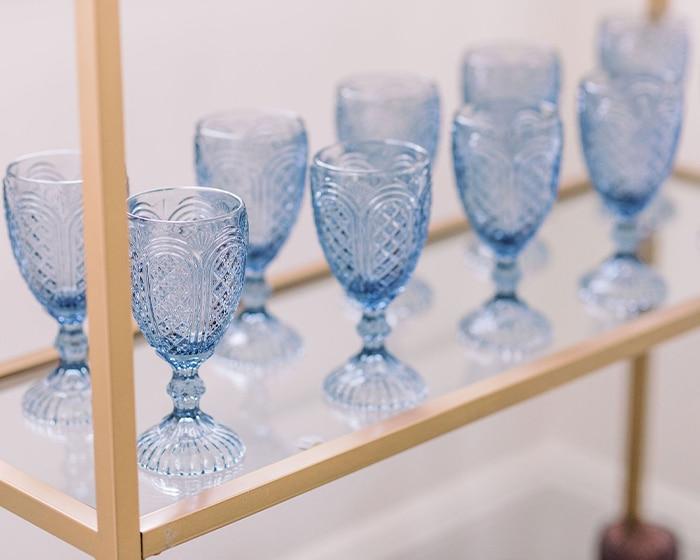 Dusty Blue Bedford Goblet