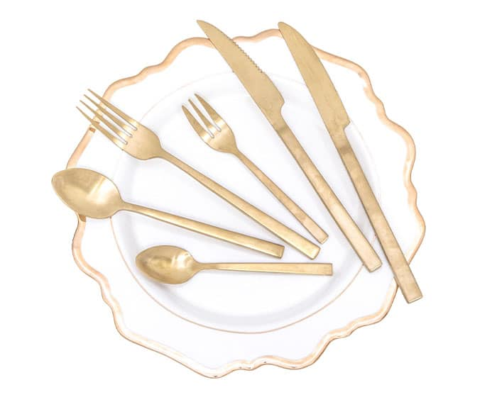 Flatware by Lovely Luxe Rentals