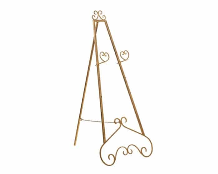 Gold Easel Lovely Luxe Rentals