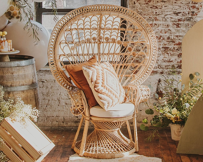 Peacock Chair Lovely Luxe Rentals