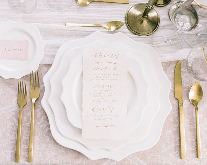 scalloped charger bone china rivington charger by lovely luxe rentals
