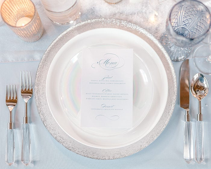 glass swirl coupe pearl dinnerware lovely luxe rentals