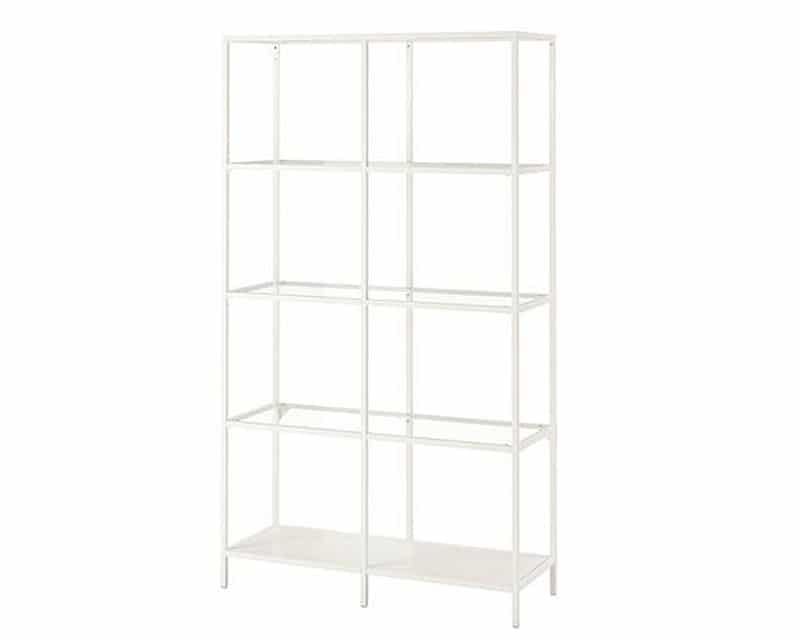 White Double Shelf