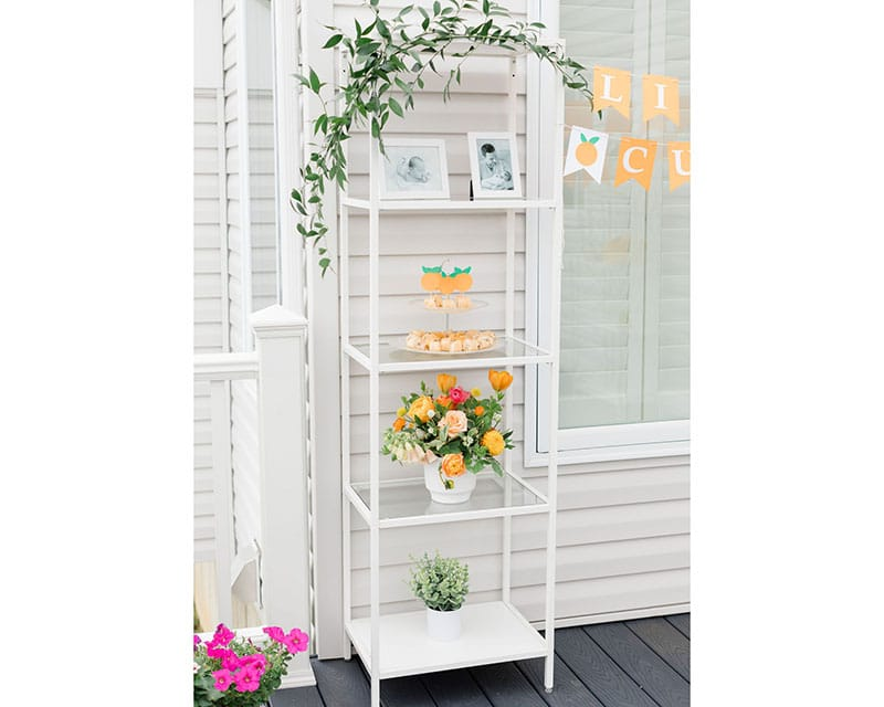 White Single Shelf