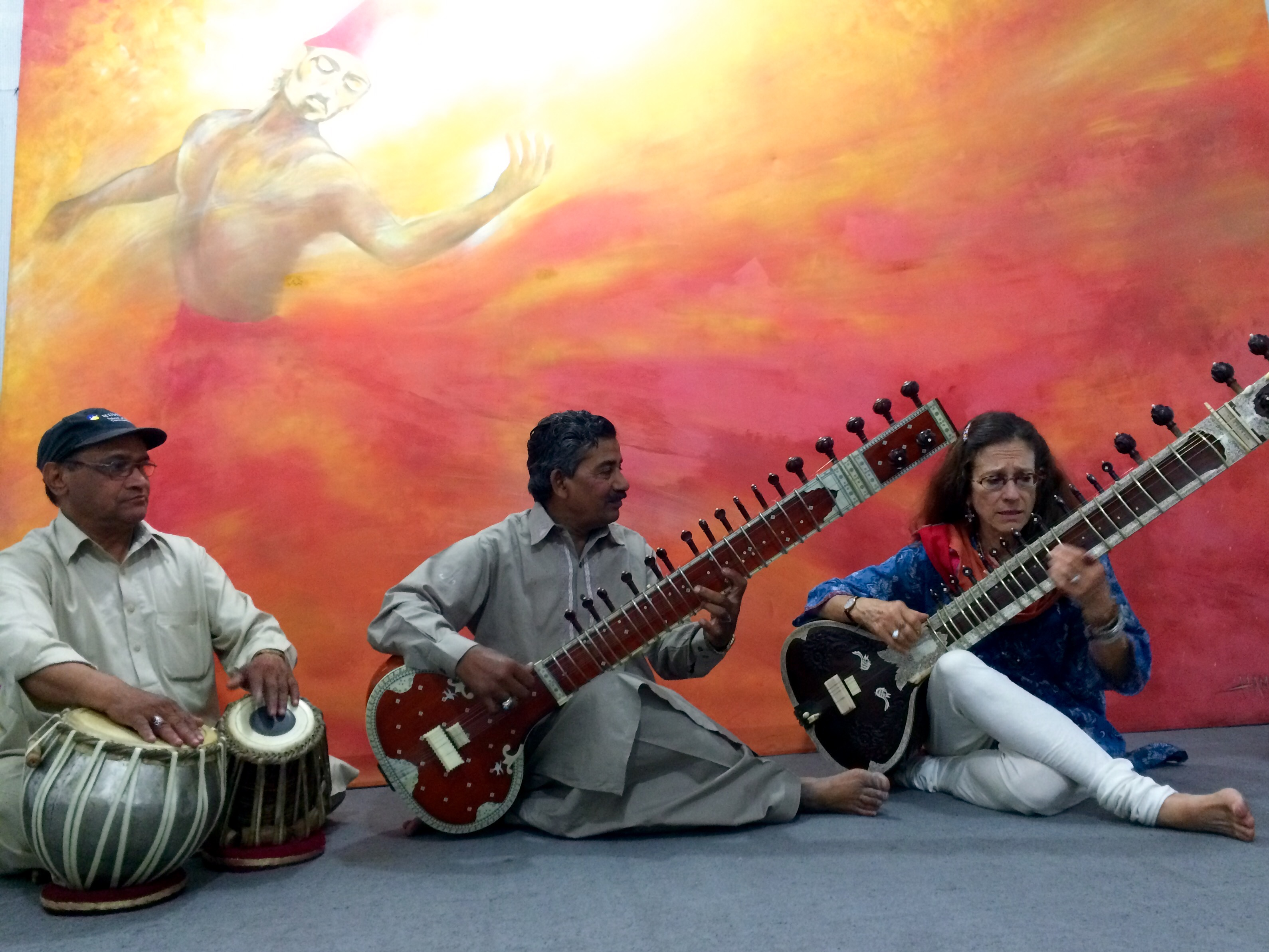 With Ustad Saleem Khan in Lahore India