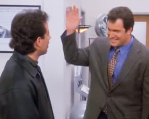Seinfeld Putty high five