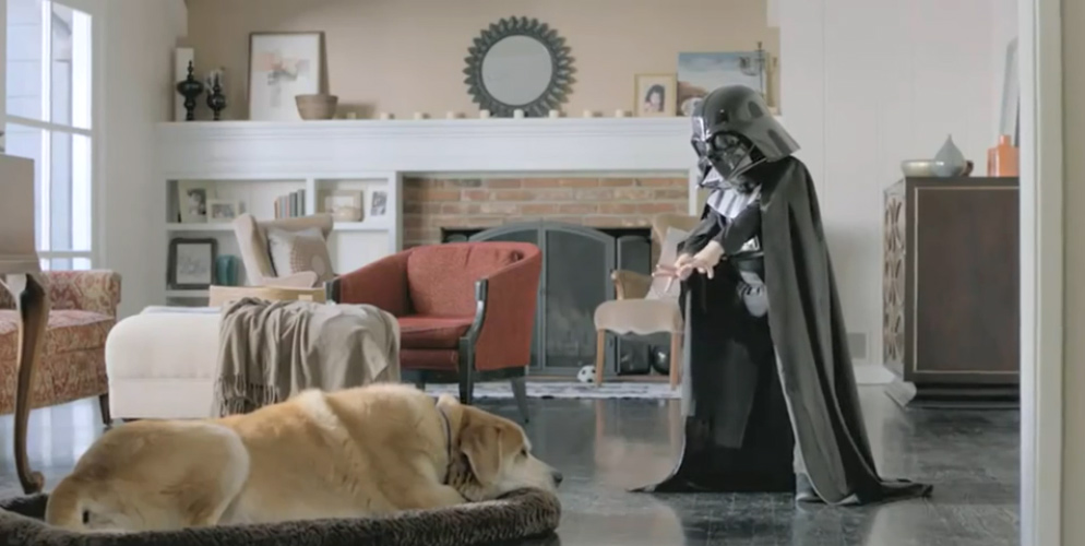 vw commercial with darth vader child