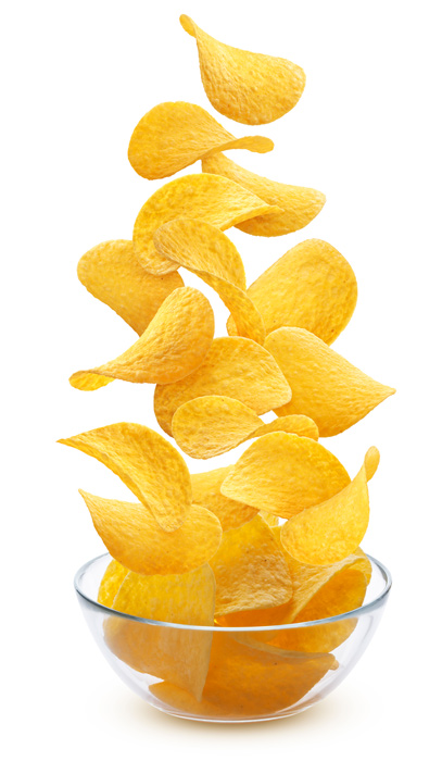chips falling into bowl