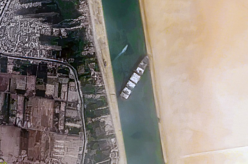 Ever Given ship at Suez Canal
