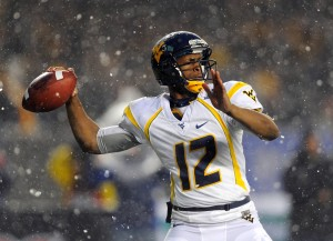 QB Geno Smith, represented by Select Sports Group, is projected to be a first round pick in the 2013 NFL Draft. Credit: Rich Barnes-USA TODAY Sports