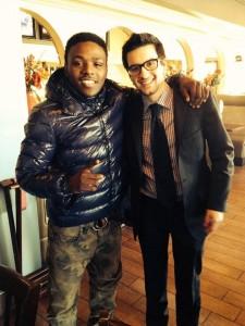Aquille Carr (left) with agent Daniel Hazan.