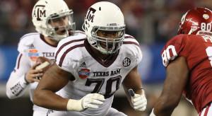 Texas A&M OT Cedric Ogbuehi. Via Matthew Emmons/USA Today Sports