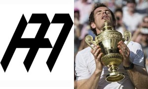 Andy Murray leaves Lagardere for his own agency, 77, the logo of which is seen above combined with his initials.  Photo via Ray Tang/Rex Features.