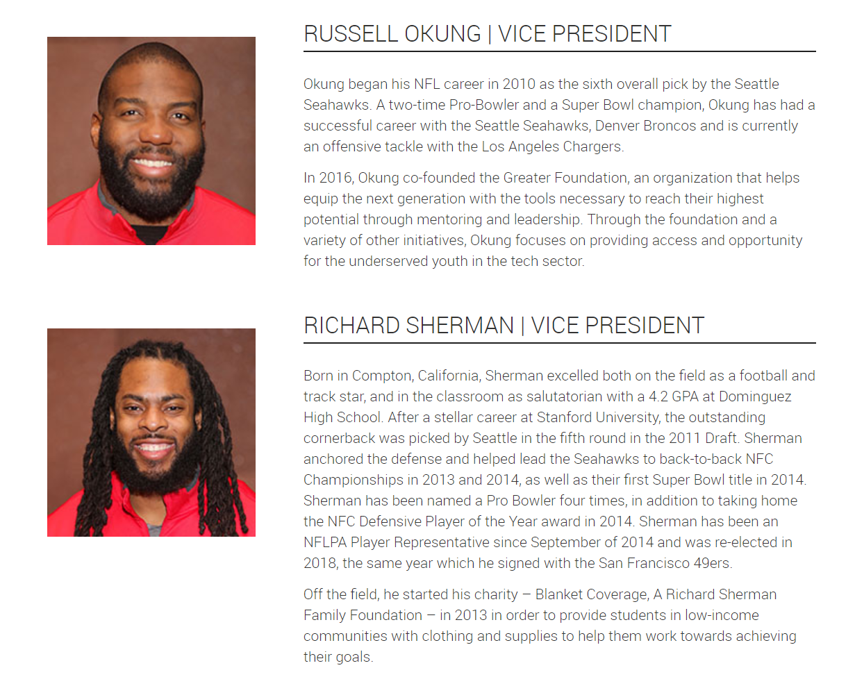 NFL Players Association - NFLPA Officers