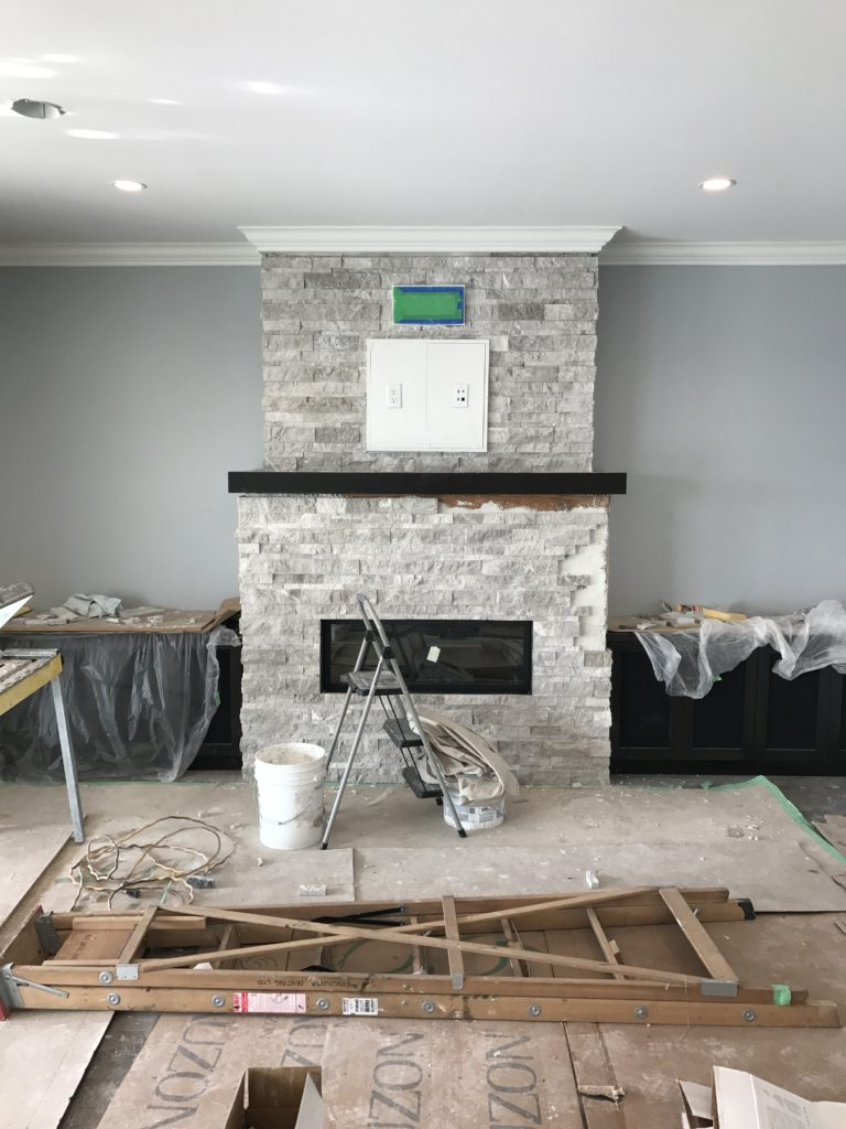 almost finished fireplace