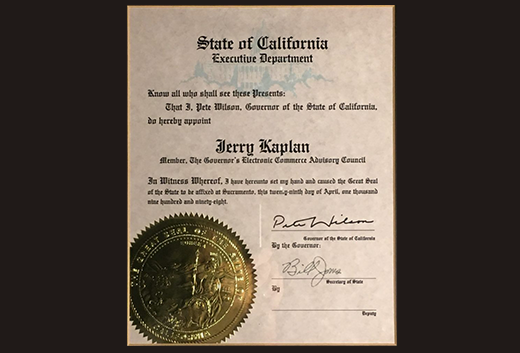 CA Governor's Council Appointment
