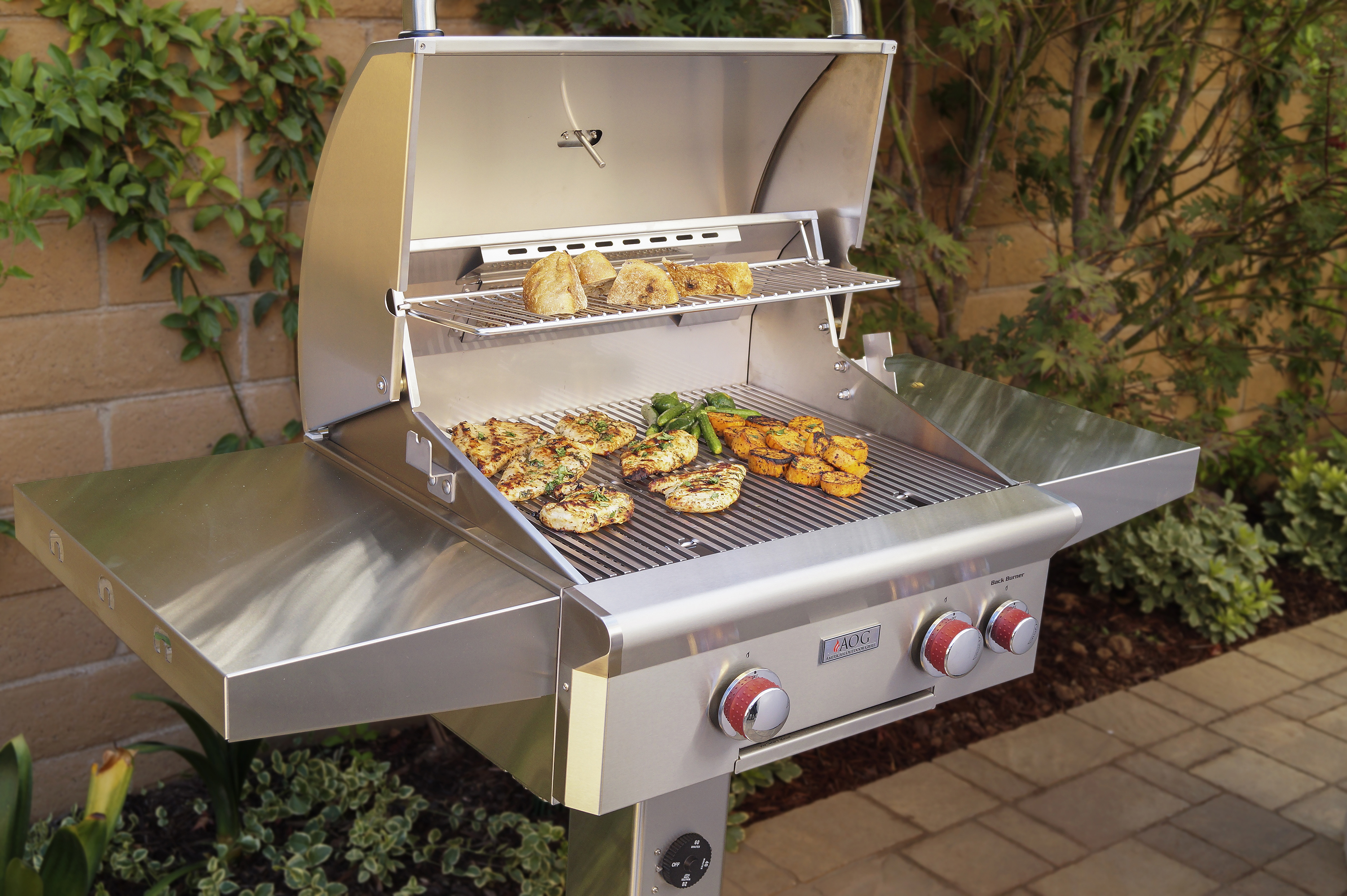 AOG_24NGT_24_ T-Series Patio Post Mount Grill, Lifestyle 1