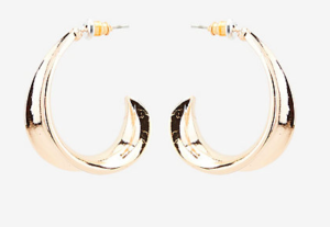 Le Chateau gold hoop earrings
