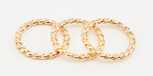 Le Chateau gold ring set