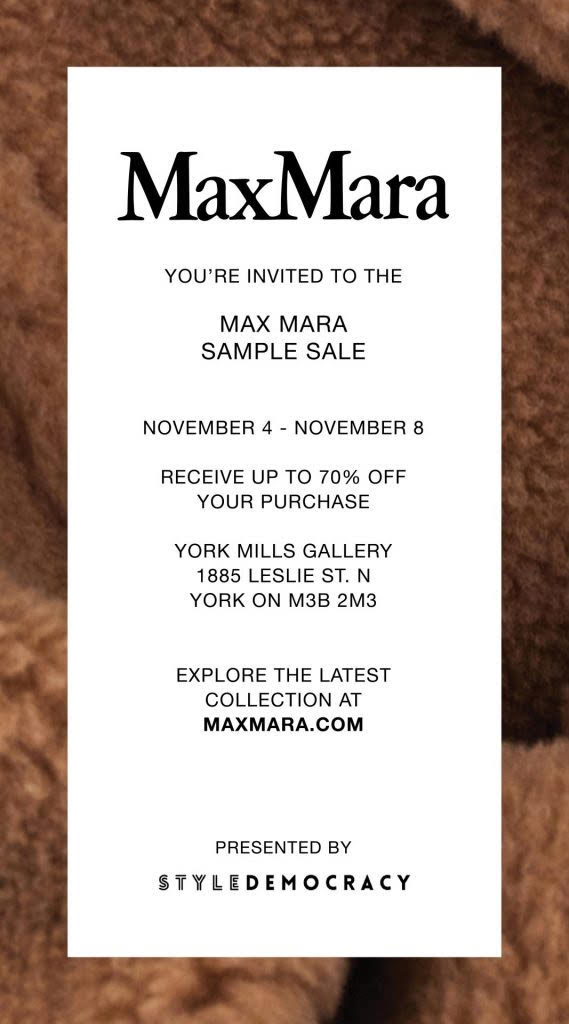 Max Mara Sample Sale