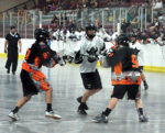 The Orangeville Junior B Northmen host the Owen Sound North Stars at the Alder Street arena in Orangeville on Monday, June 19. The Northmen won this game 13-6 and claimed the Division title. OJBLL teams will now prepare to head into the playoffs.