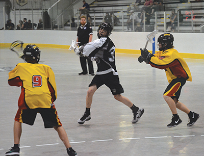 The Orangeville Northmen Bantam team take on the Napanee Knights at Tony Rose arena during competition at the Barry Burman Summer Shootout on Saturday, June 24. The Northmen came out on top in this game with a 9-5 win over the Knights.