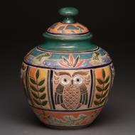 Cathra-Anne Barker: Northwoods Roundy Jar:  Eco-Narrative Series
