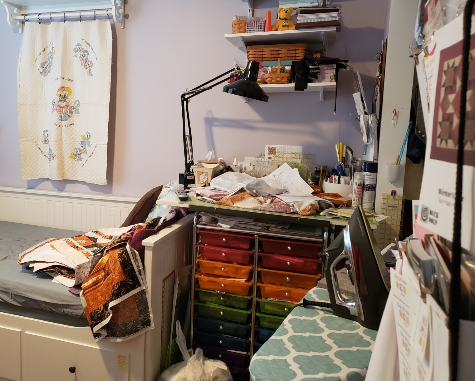 State of My Sewing Room – Before