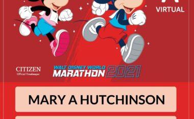 Run Disney Marathon – 2021 Goes Virtual